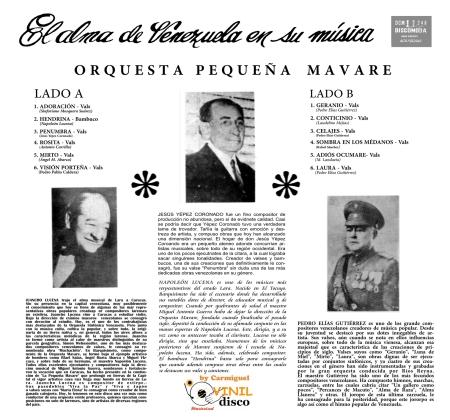 El Alma de Venezuela en su música contraportada